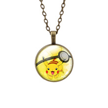 LIEBE ENGEL Pokemon Glass Cabochon Chain Necklaces