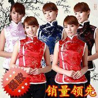 Rot Tang Kostüm Weste Frau FashionWinter Kleidung Verdickung Täglichen Chinesischen Stil Warme Weste Vetement Homme Cheongsam Top Qipao