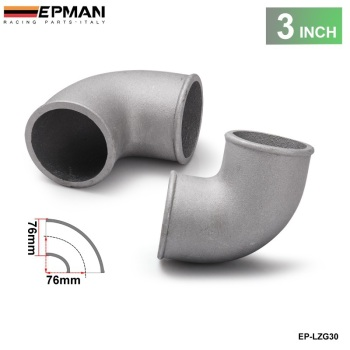 3 Cast Aluminium Elbow Pipe 90 Degree Intercooler Turbo Tight Bend For BMW E36 325 328 M3 HFM S52 M52 M50TU EP-LZG30 image