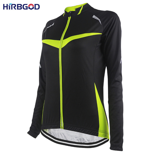 HIRBGOD Stylish Green Womens Bike Clothing Long Sleeve Lightweight Sport  Retro Cycling jersey Clothing Shirt Jacket Top-NR190 07a26d7d2