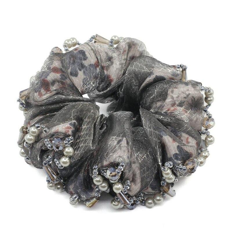 1 Stück Haar Zubehör Für Mädchen & Frauen Perle Haar Seil Super Elastische Stirnbänder Kristall Pferdeschwanz Scrunchie Hohe Qualität
