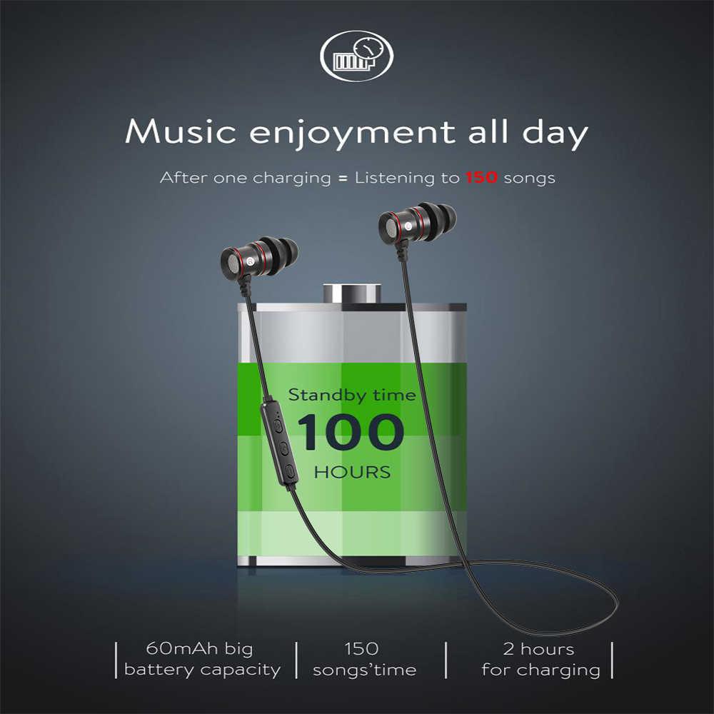 IPUDIS магнитные металлические bluetooth-наушники Беспроводные спортивные наушники стерео гарнитура с микрофоном