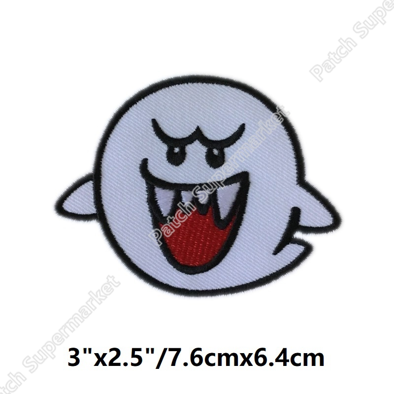 GHOST BOO SUPER MARIO VIDEO GAME Embroidered NEW IRON ON and SEW ON Patches for clothing