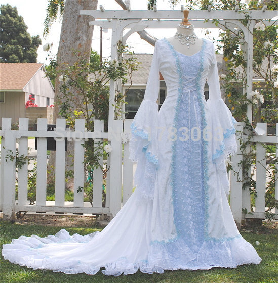 Narnia Style Victoria Velvet and Lace Fantasy Medieval Fairy Wedding ...
