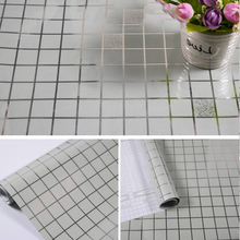 Thick 45x100CM Kitchen Bathroom Toilet Self Adhesive Mosaic Wallpaper Waterproof Oil Proof Stickers Tiles Renovate Wall Sticker