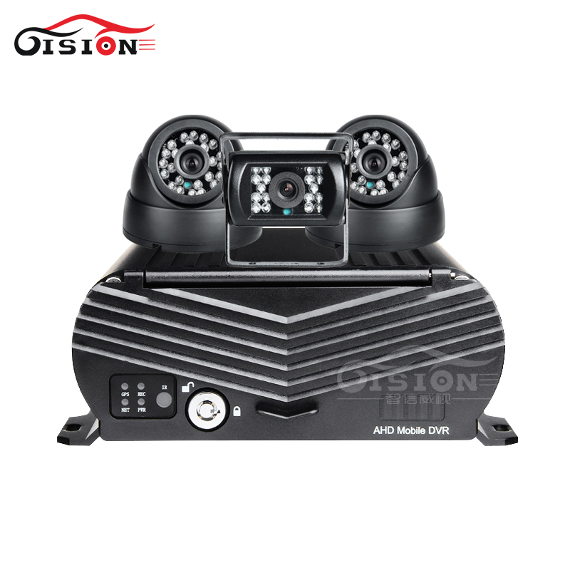 Image 2 - 3PCS AHD BUS Taxi HD CCTV Car Camera+ 4G GPS Wifi 4CH Hard Disk HDD Mobile Car Dvr Free Shipping Real Time Remote View I/O Mdvr-in Surveillance System from Security & Protection