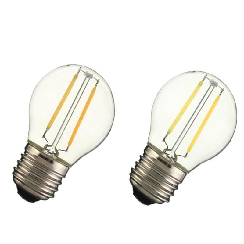 LightInBox E27 G45 2W 200LM Edison Filament LED COB Dimmable Lamp AC220V Retro Incandescent Vintage Light Bulb