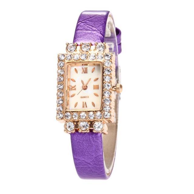 מלבן יפה פשוט וטמפרמנט נירוסטה שעון 2018 מזכרות אופנתי נשים של שעון עסקי גבירותיי שעוני יד # D