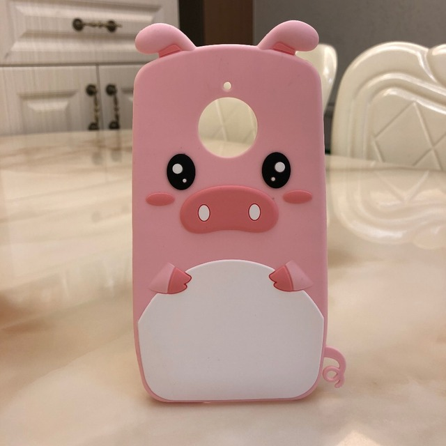 newest 3371b a5407 US $3.44 17% OFF|Pink Pig case For Motorola Moto E4 Plus Case 3D Silicon  Cartoon Soft Phone Back Cover Case for Motorola Moto E4plus-in Half-wrapped  ...
