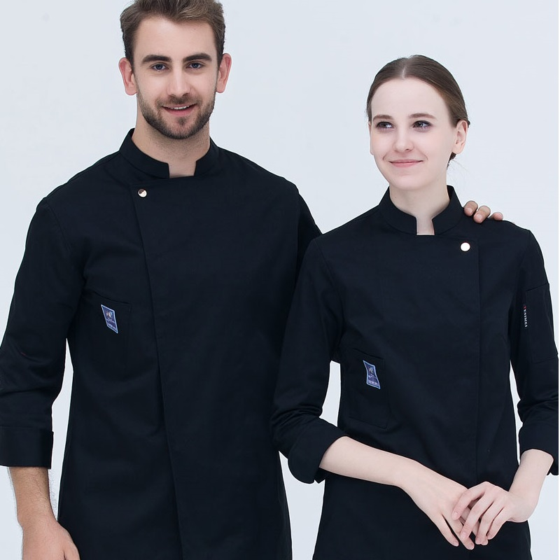 10pcs Hotel Restaurant Chef Wear Long Sleeved Chief Uniform Cake Pastry Kitchen Chef Uniform Bakers Coat Cake Room Work Clothes