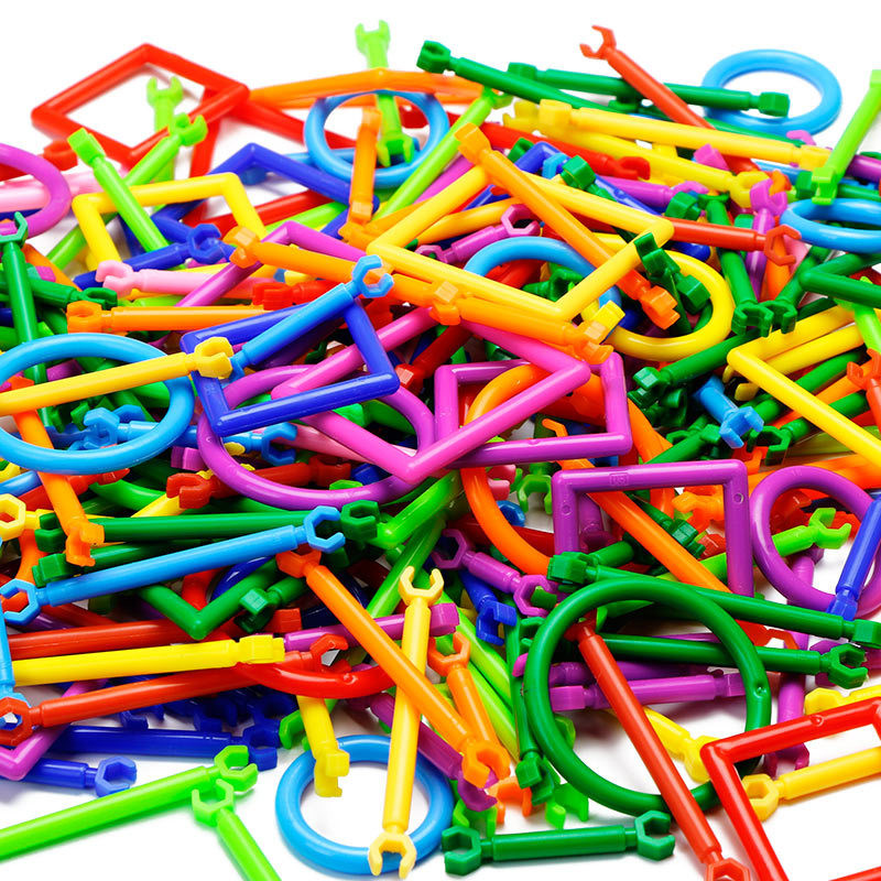 368 шт DIY строительные блоки Пряжка смарт-палка пластиковые блоки воображение творческие развивающие обучающие игрушки для детей новые