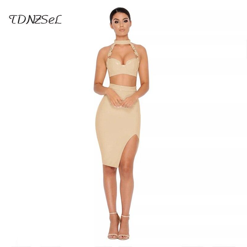 783496caa Women Sexy PU Patent Leather 2 Two Piece Set Halter Strapless Backless  Short Crop Top Skinny High Waist Slim Pencil Skirt Summer