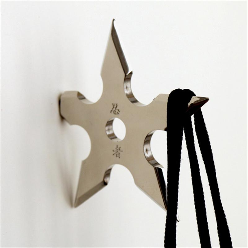 Wall Coat Hook Metal hanger Novelty Home Decor Star Dart Shape Ninja Cool  Stainless Steel Clothes Supplies-in Robe Hooks from Home Improvement on ...