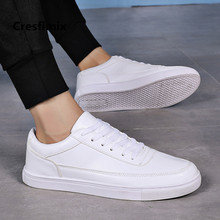 Cresfimix zapatos hombre male fashion plus size white pu leather anti skid shoes man & men cool comfortable black shoes a3093