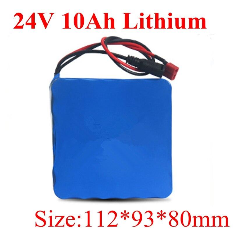 リチウムポリマーリチウム電池 24 v 10ah バッテリー 18650 電動自転車電動自転車バッテリー 24 v 250 ワット Motores Electricos 送料無料  グループ上の 家電製品 からの バッテリーパック の中 1