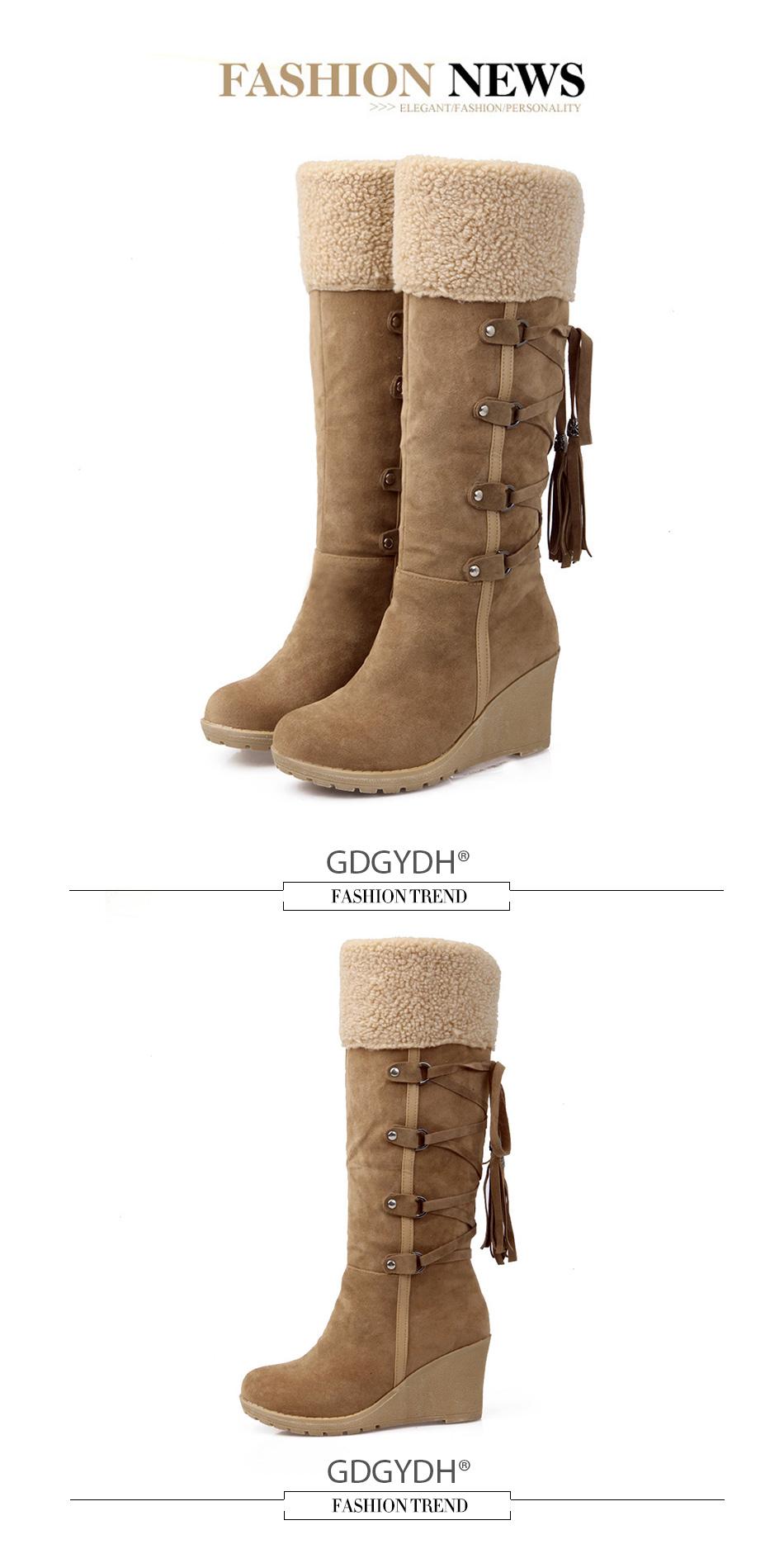 fur snow boots women ,waterproof snow boots women