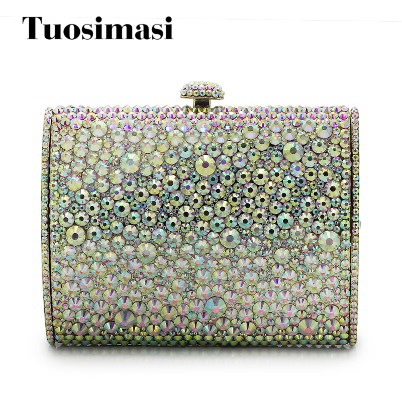 New Stylish Day Clutches Prom Ladies Handbag Gift Box Packed Evening Bag Crystal Bag Women Crystal Evening Bag(1016RW) 10496 girl friends heartlake city park cupcake cafe building blocks sets kids education bricks toys gift compatible with legoe