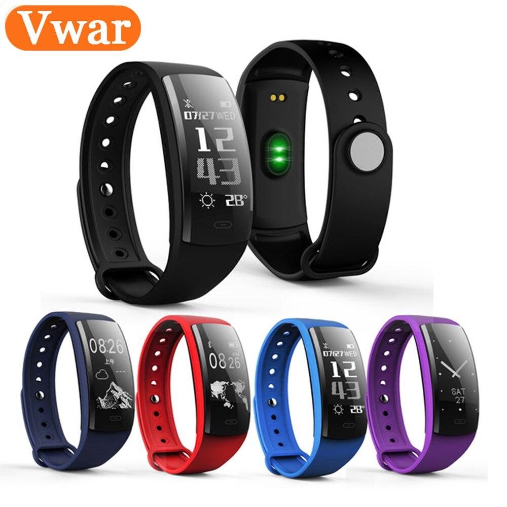 Vwar QS90 Blood Pressure Smart Bracelet Heart Rate Monitor Blood Oxygen Monitor IP67 Fitness Tracker for Andriod IOS VS QS80