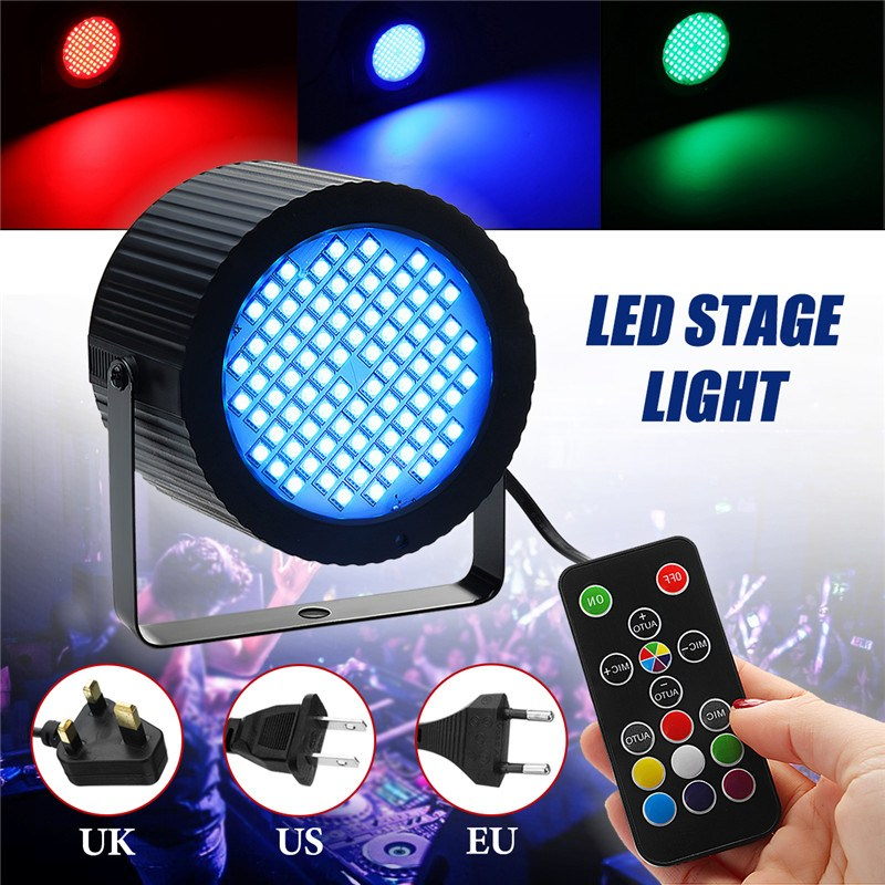 Smuxi 88 Led Par Stage Light 25W RGB Stage Effect Lighting Strobe Wash Par Light Remote Control Dimmable For Club Dj Home Party