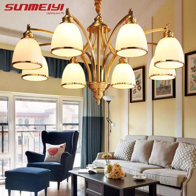 Online Shop Modern Luxury LED Chandeliers Lighting Glass Shade ...
