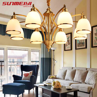 Modern Luxury LED Chandeliers Lighting Glass Shade Hanging kroonluchter lustre Home Decoration Living Room Bedroom luminaires