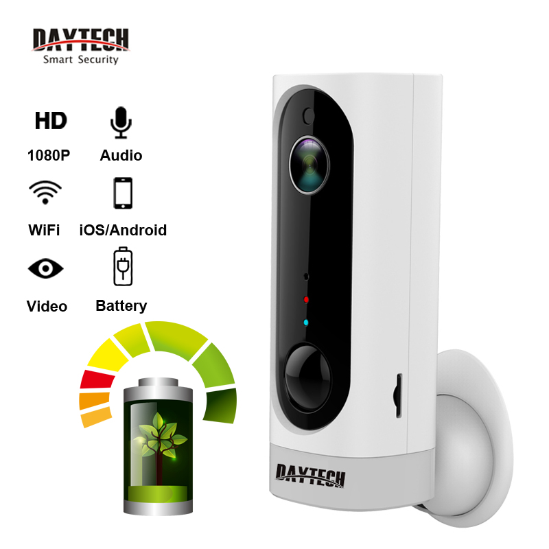 LA Journée Sans Fil BATTERIE IP caméra 1080 P/720 P De Sécurité Wifi Caméra Audio PIR Nuit Vision Full HD CCTV réseau Cam iOS Android