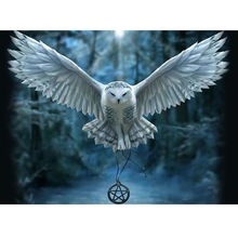 3D DIY Diamond Painting Cross Stitch  Embroidery OWL Picture painting animal Mosaic pattern Needlework gift