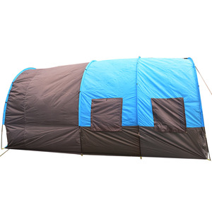 Image 4 - Portable Double Layer Big Tunnel Tent 5 10 Person Outdoor Camping Family Tent House for Party Emergency Case 480*310*210cm 10Kg