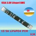 1 S 5A 3.6 V LiFePO4 BMS/PCM/PCB placa de circuito de proteção da bateria para 1 Packs 18650 Bateria celular