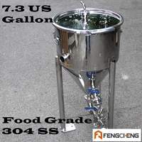 Conical Fermenter 7 3 US Galon Sanitary Weld Food Grade 304SS