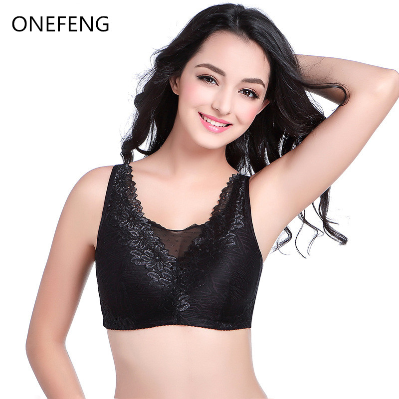 ONEFENG 6026 Super Soft Comfortable Mastectomy Bra 75-95ABC Artificial Breasts Bra with Pockets for Breast Cancer WomenONEFENG 6026 Super Soft Comfortable Mastectomy Bra 75-95ABC Artificial Breasts Bra with Pockets for Breast Cancer Women