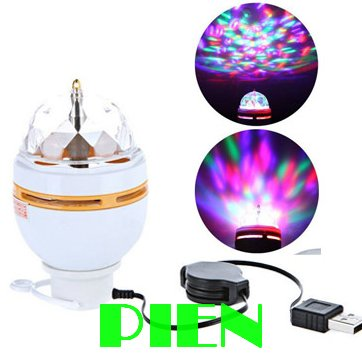 Full Color 3w Led Ceiling Lamp 5v Disco Magic Effect Stage