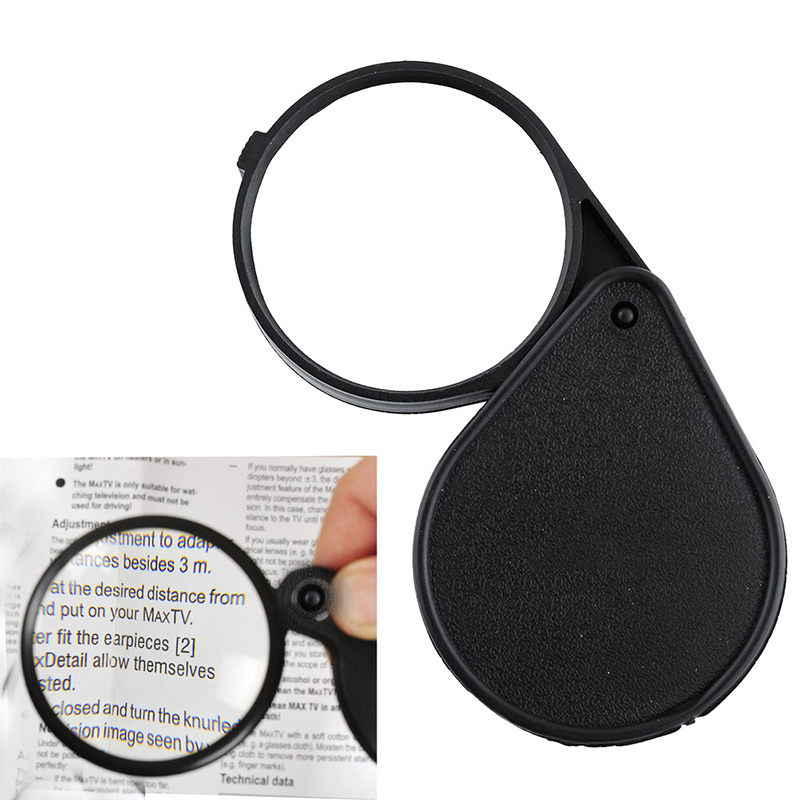 Pop Folding 10X Mini Pocket font b Jewelry b font Magnifier Magnifying Eye Glass Loupe Lens