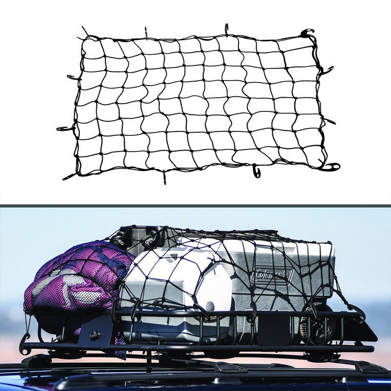 Large Elastic Car Cargo Tidy Net Storage Boot Net Fixing Points Saftey 120 X90cm Organizer Trailer Roof Rack Boot Bungee Cord