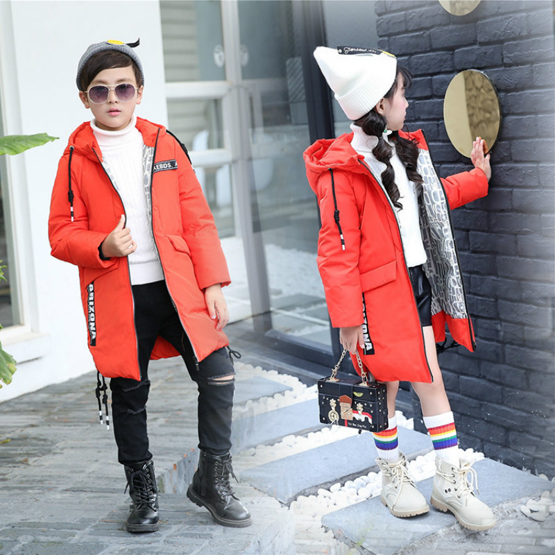 2017 New Children Outwear Down Padded Coat For Girls Kids Boys Hooded Winter  Long Section Coat Girls Boys Winter Light Jackets 2016 down jackets for children winter fashion girls boys hooded coat children s jacket outwear kids casual cartoon outwear 16a12
