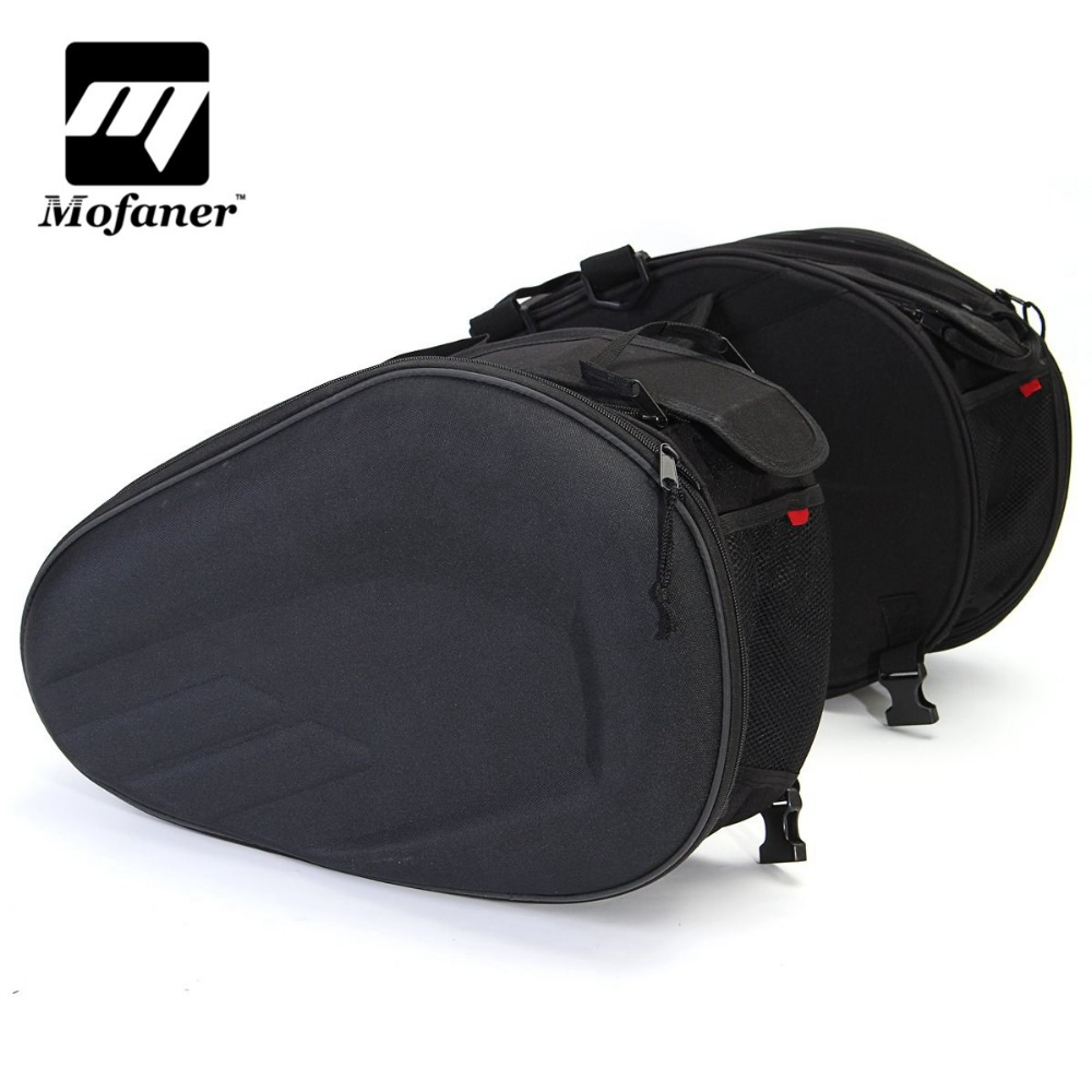 Universal Motorcycle Pannier Luggage Saddle Bag 36-58L With Waterproof Cover universal waterproof bag with strap