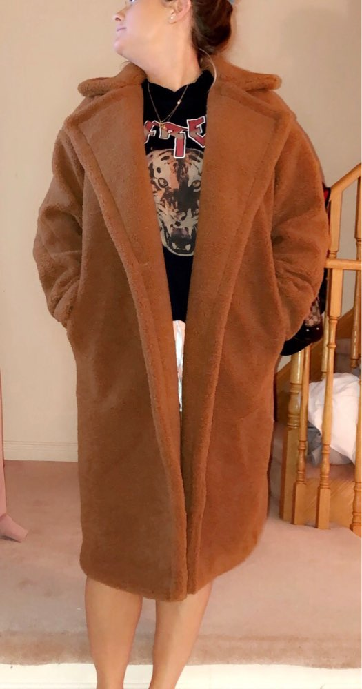 19 new teddy coat faux fur long coat women lamb fur coat 10 color thick coat 53