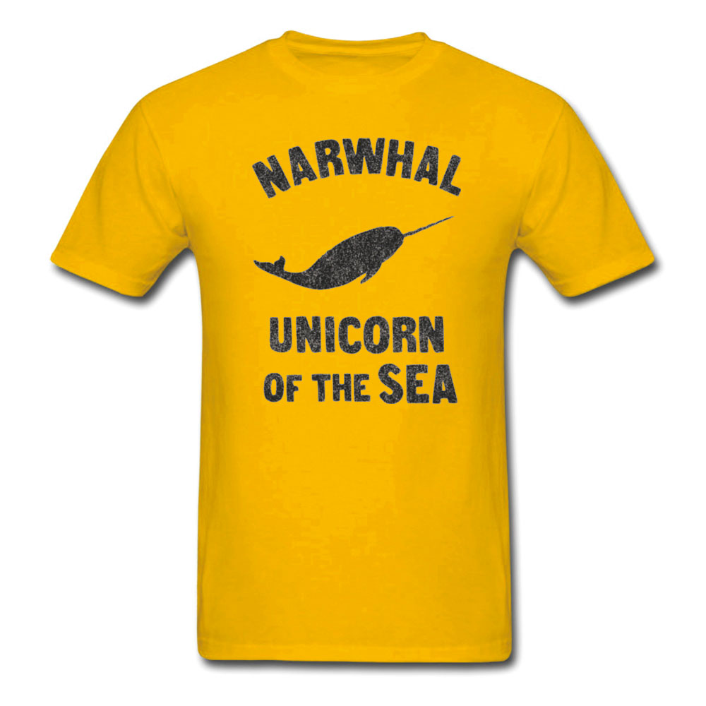 NARWHAL UNICORE OF THE SEA T SHIRT OCEAN BIOLOGY FUNNY PRINT T-SHIRT CUSTOM MANY COLOR DESIGN QUALITY WOMEN MEN COTTON T-SHIRT