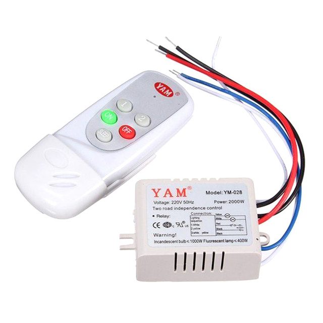 YAM AC 220V Wireless Light Lamp Digital Switch with Remote Control