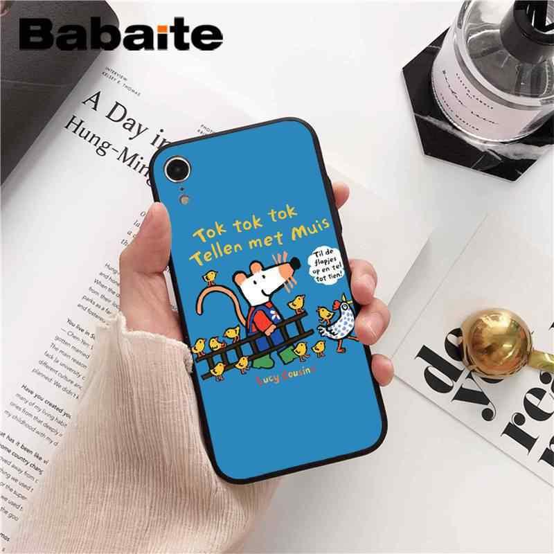 Babaite Maisy Mose Story чехол с героями комиксов черный мягкий чехол для телефона iPhone 8 7 6 S Plus X XS MAX 5 5S SE XR 10 Чехол