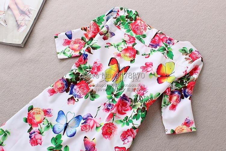 Лето в Стиле Женщины Dreess 2017 Мода Печати повседневная Dress Коротким Рукавом О-Образным Вырезом Чешские Летние Женщины Dress Vestidos Плюс размер