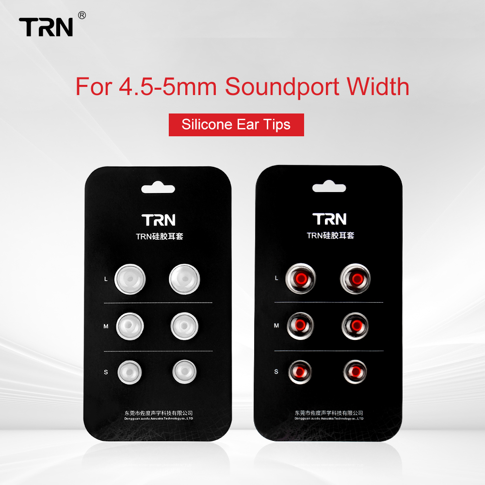 AK TRN 3Pair(6pcs) 5mm L/M/S Size Noise Isolating Silicone Foam EarTip Ear Foam Eartip For In Ear Earphone Earbud Headset TRN X6