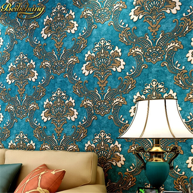 beibehang papel parede Luxury Fashion Damascus 3D Wallpaper Non-woven Stereo Wallpapers Mural Wall Decals Papel de Parede 3Dbeibehang papel parede Luxury Fashion Damascus 3D Wallpaper Non-woven Stereo Wallpapers Mural Wall Decals Papel de Parede 3D