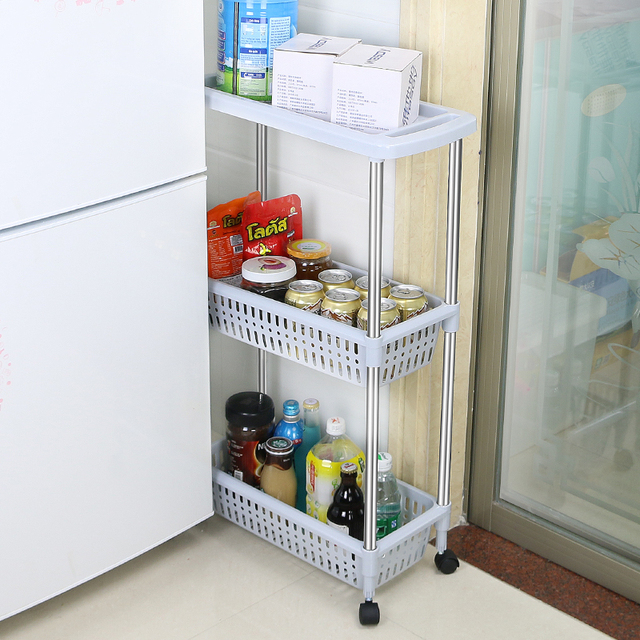 BNBS 1138 Multipurpose Shelf With Removable Wheels Crack Rack Storage Rack  Shelf Multi Layer Refrigerator