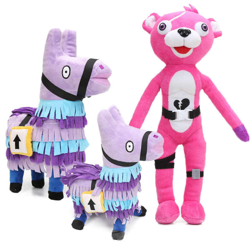 Game Toys Llama Pinata Pink Bear Plush 14inch 34cm Raven Dark Voyager Plush Pillow Soft Stuffed Animal Dolls Toys Purple Horse