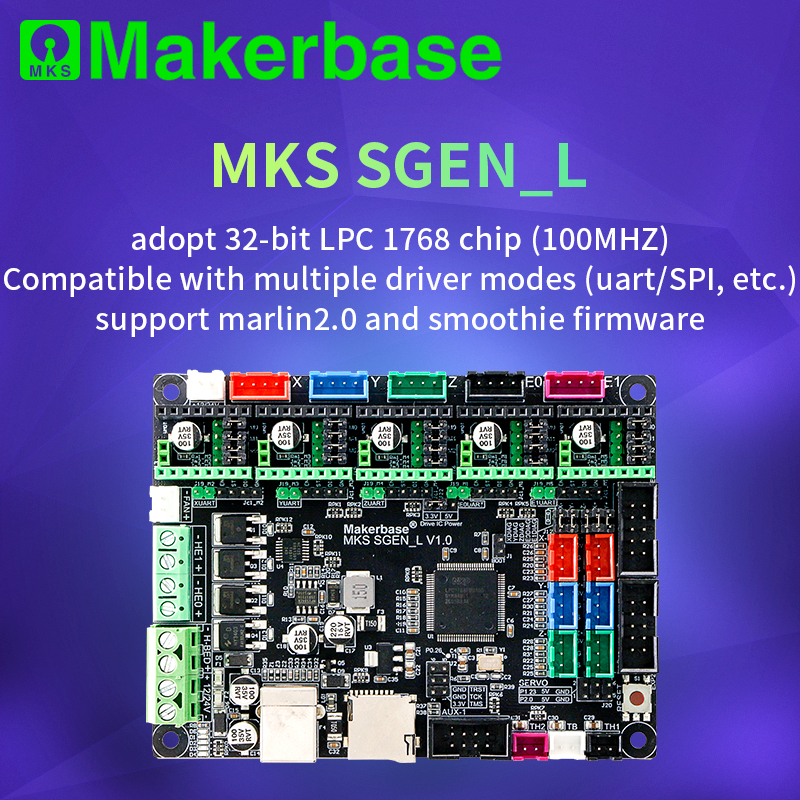 3D Printer Board MKS SGen_L 32-bit  Controller Compatible With Marlin2.0 And Smoothie Firmware.Support Multiple Types Of Drives