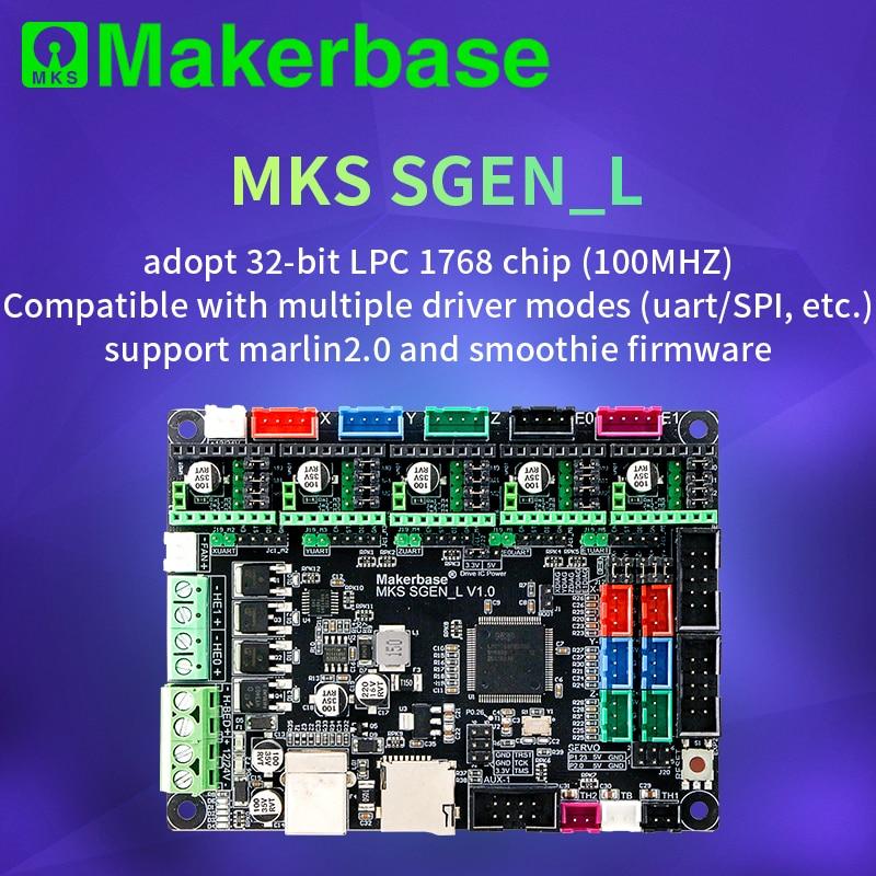 Makerbase 32-Bit MKS SGen_L Smoothieware ve Marlin 2.0 kontrol panosu onayı TMC2208 ve TMC2209 uart modu TMC2130 spi modu