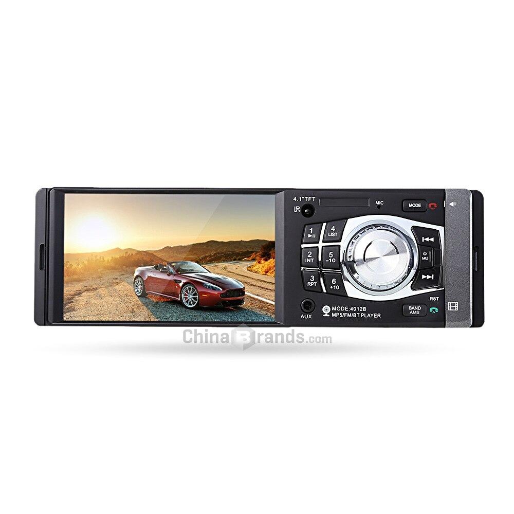 4012B 4.1 pouces multimédia Audio Radio noir Bluetooth 2.0 Radio Mp5 lecteur avec télécommande radio multimédia voiture