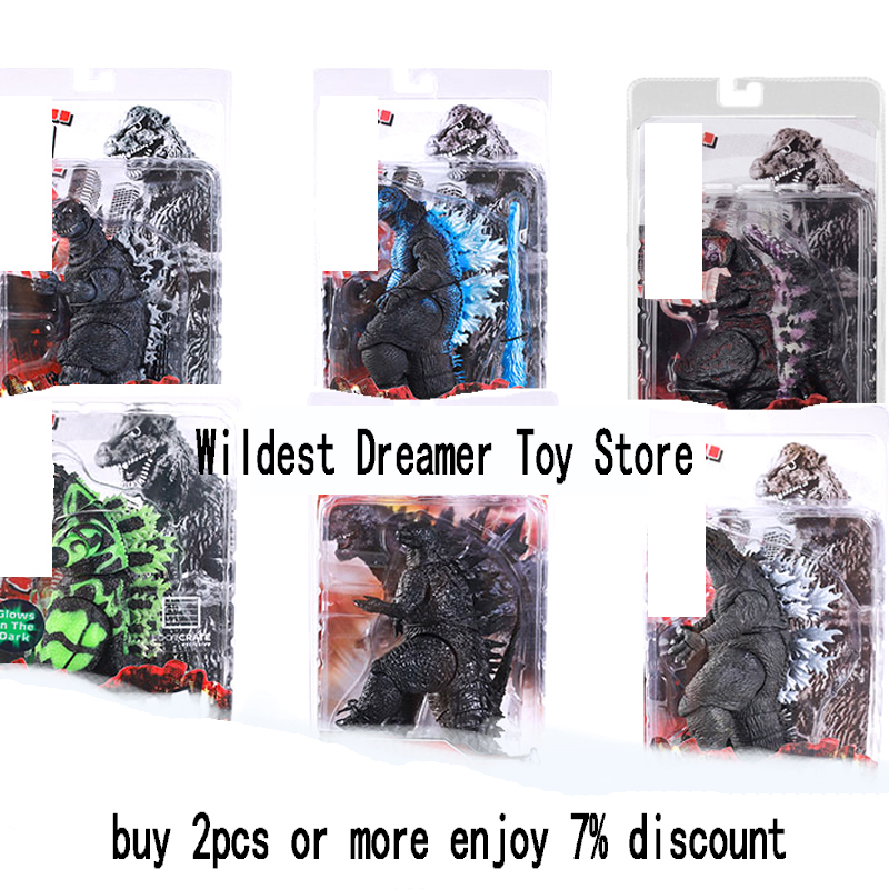 NECA Movie Action Figure Movable Doll Model Toy Jongens Kid Kind Speelgoed Anime Cartoon Movie Godzilla Monster Gojira