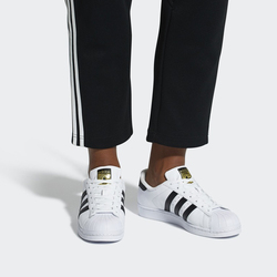 Adidas Official SUPERSTAR Women's Men's Skateboarding Shoes Sport Outdoor Sneakers Low Top Good Quality Classic Designer Flat